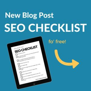 New Blog Post seo checklist opt in image