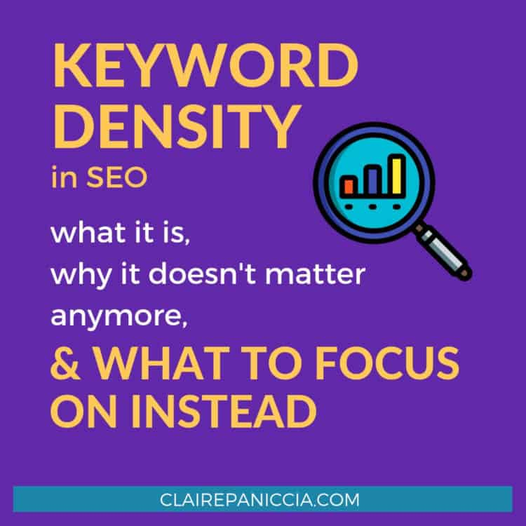 Keyword Density is a myth. It used to be important for SEO, but nowadays it's not worth the energy. Here's what it is, why it's pointless, and what to focus on instead to really get results from SEO.